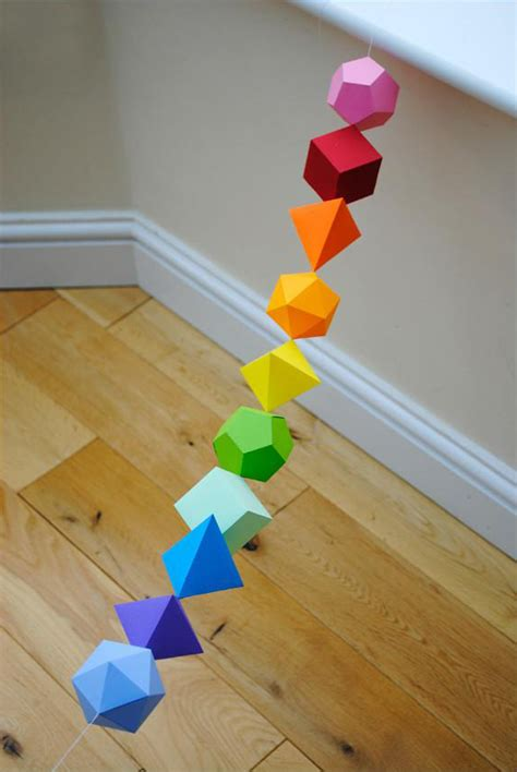 3d Shapes With Paper - just awesome diy 3d paper shapes this site here has