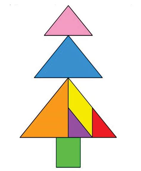 tangram christmas tree related keywords tangram