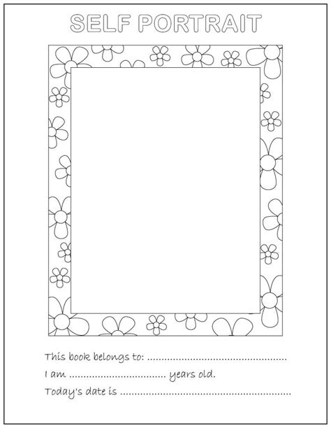 Self Portrait Coloring Page about me coloring pages coloring home