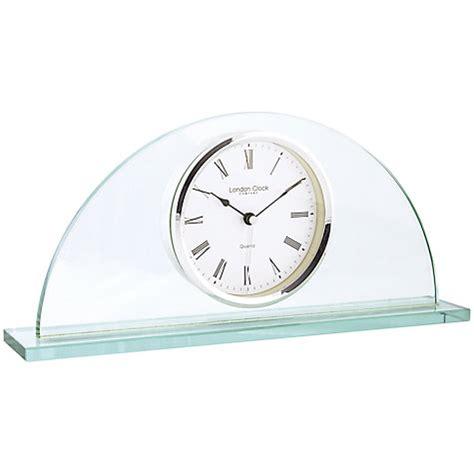 buy clock company glass half moon mantel clock