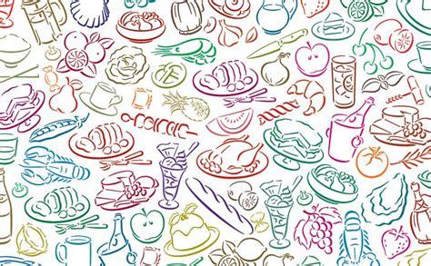 image pattern food vector food pattern