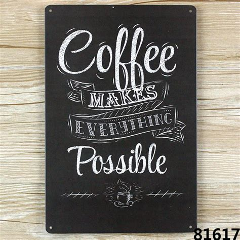 Pajangan Dinding Poster House 01 Pigura Home Decor aliexpress buy coffee make everything possible vintage tin sign bar pub home wall decor