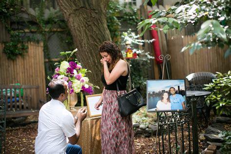 New York Proposal Ideas Ring Stash Garden Engagement Ideas