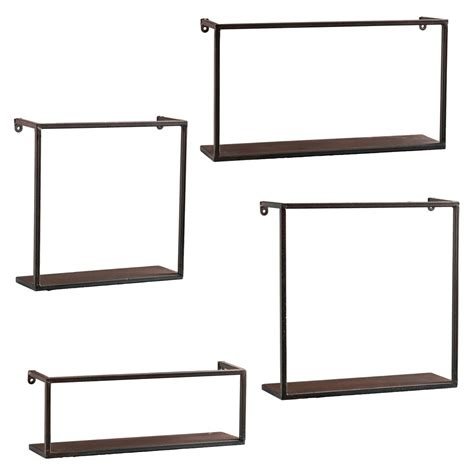 zyther metal wall decor shelves abstract metal art