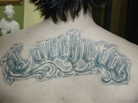 cool tattoos letter designs 66 cool lettering tattoos for back