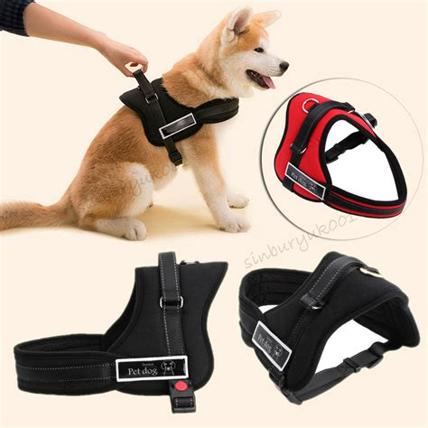 puppy harness heavy duty husky soft padded non pull harness chest vest adjustable s m l xl ebay