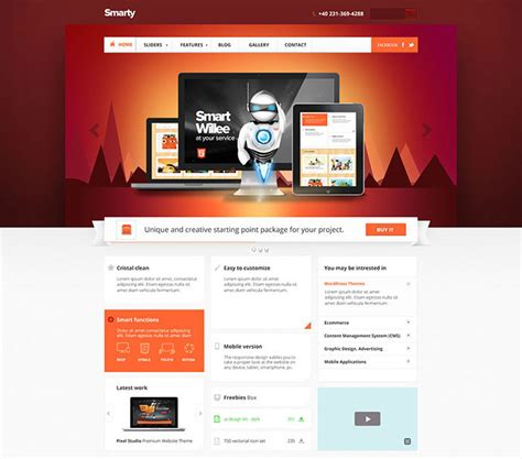 95 Beautiful Photoshop Website Templates Web Graphic Design Bashooka Smarty Web Template