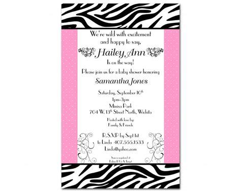 Free Printable Zebra Print Baby Shower Invitations by Free Printable Zebra Baby Shower Invitations Www