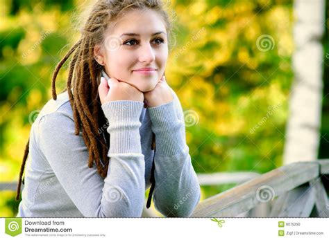 beautiful video beautiful girl with dreadlocks stock photo image 9075290