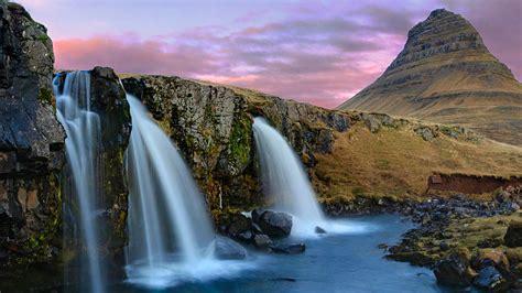 iceland waterfall hd wallpapers 4k kirkjufell mountain waterfalls iceland wallpapers hd
