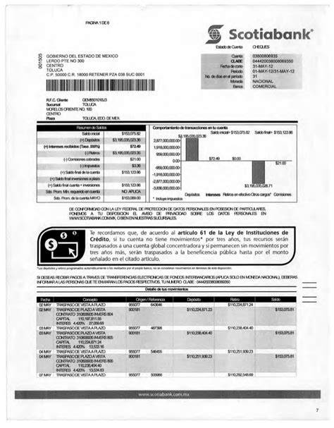 estado de cuenta scotiabank estados de cuenta de luis videgaray caso