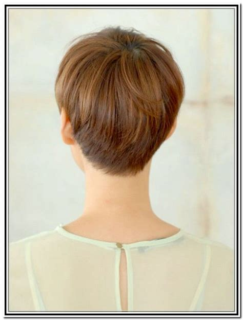 front and back pictures of short hairstyles for gray hair back views of short haircuts for women pixie haircuts