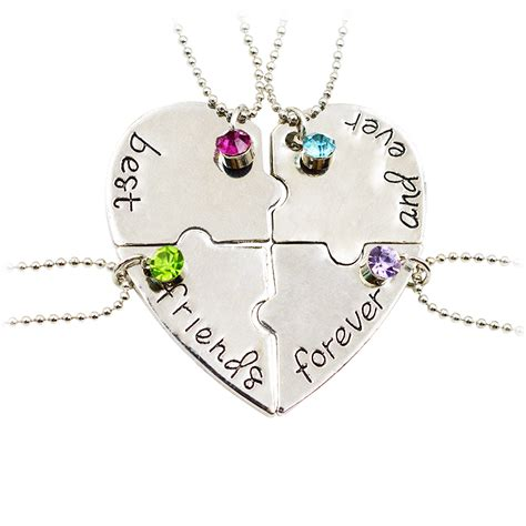 8 Best Bffs by 4 Best Friends Forever And Necklaces