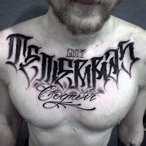 chest lettering tattoo designs 75 lettering designs for manly inscribed ink