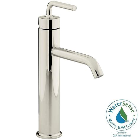 kohler single hole bathroom faucet kohler purist single hole single handle bathroom vessel
