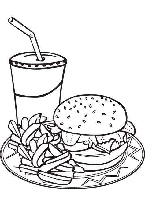download free fast food coloring book