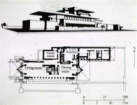frank lloyd wright home and studio floor plan robie house fl wright a 20th century pinterest