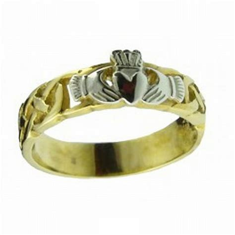 gents 14k gold handcrafted celtic claddagh wedding anniversary ring ebay