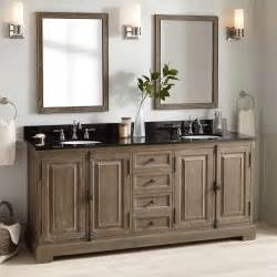 double sink bathroom vanities and cabinets 72 quot chelles double vanity for undermount sinks gray wash