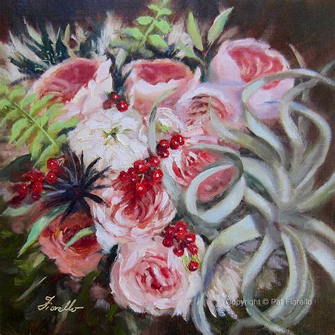 Wedding Bouquet Painting by Bridal Bouquet Paintings By Pat Fiorello