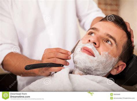barbershop girls leg shaving getting a close shave stock photo image 39930680