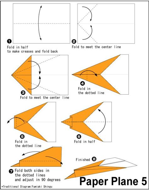 How To Make A Paper Airplane With Pictures - 25 best ideas about origami airplane on air