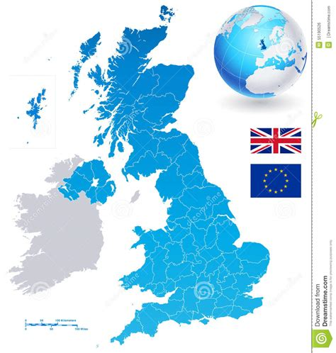 uk map vector free vector map set of united kingdom stock vector image
