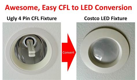 How To Convert A Recessed Light To A Pendant Light Superior Method For 4 Pin G24 Socket Cfl To Led Conversion With Ballast Bypass