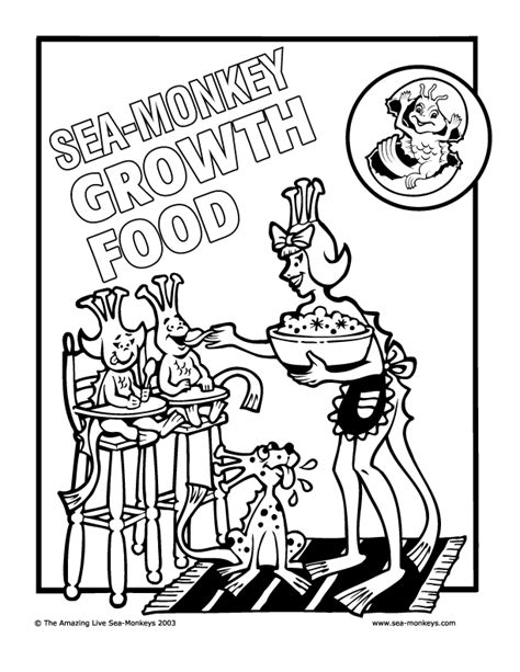 sea monkey coloring pages cartoon monkey coloring pages az coloring pages