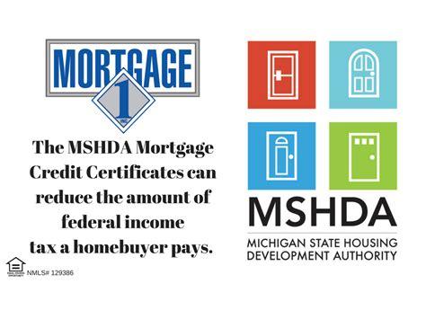 mshda federal tax credit mortgage 1 inc