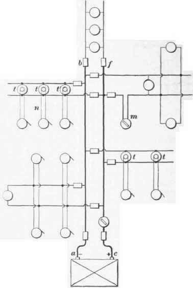 tree system of house wiring 44 connections for equalizing the e m f
