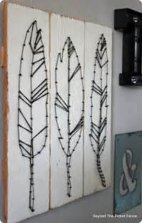 Ballard Designs Coffee Table feather string art