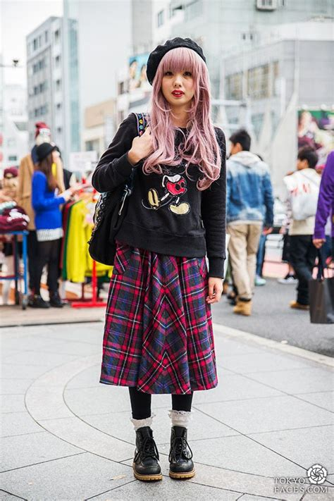 Pink Serious Mickey Sweater vintage japanese fashion and tokyo style
