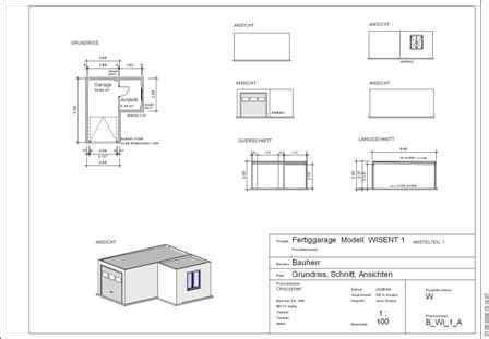 garage zeichnung betongaragen grundrisse omicroner garagen