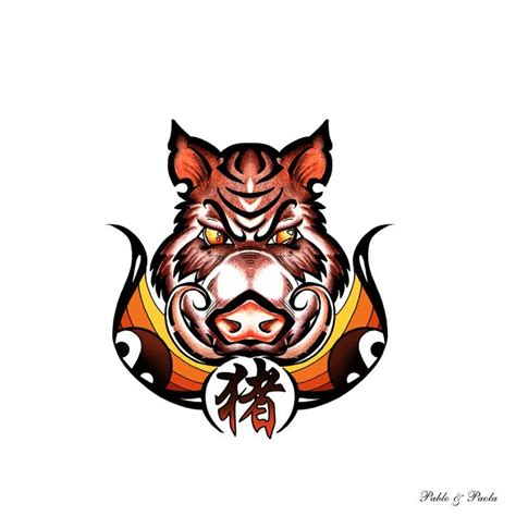 wild boar tattoo designs boar design