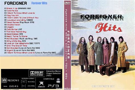 foreigner movie songs foreigner forever hits media collection 70s 80s dvd