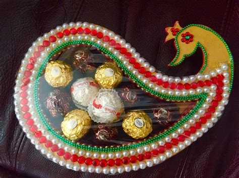 Indian wedding decor: Chocolate Tray   ~Creative Crafts