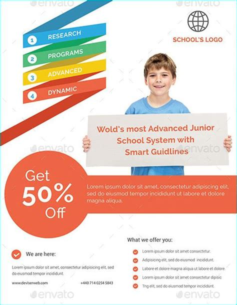 education psd templates 20 professional educational psd school flyer templates