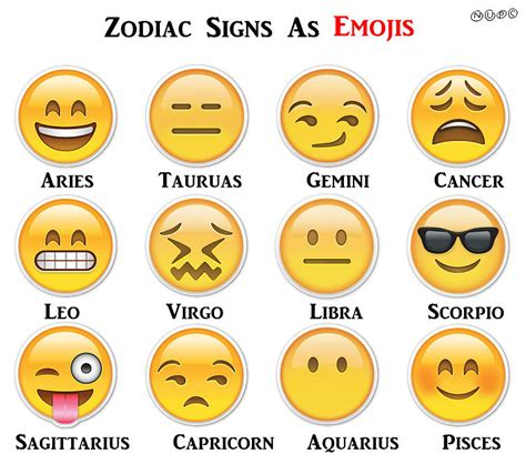 zodiac sign which emoji matches my zodiac sign popsugar tech