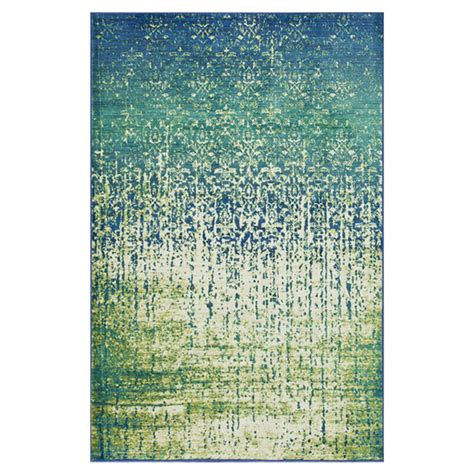 blue green rug the conestoga trading co blue green area rug reviews wayfair