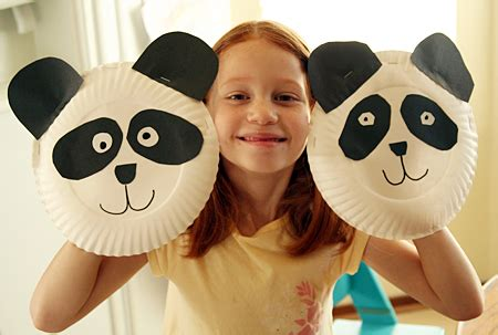How To Make A Paper Plate Puppet - paper plate panda puppets let s explore
