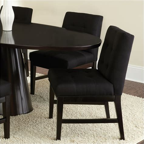 Fabric Parsons Dining Chairs Maurice Parsons Upholstered Poly Cotton Fabric Dining Chair In Black Mu540s