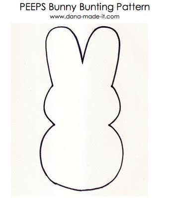 peep template bunny peeps bunting favecrafts