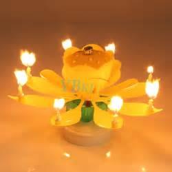 Lotus Flower Cake Candle 1pc 10pcs Musical Rotating Lotus Flower Cake Topper