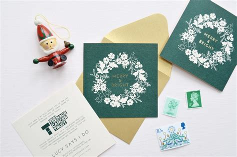 pack   charity christmas cards pink  forest green lucy