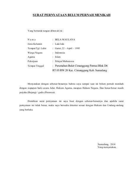 format surat pernyataan wali nikah contoh surat akuan pindah wali kotasurat com