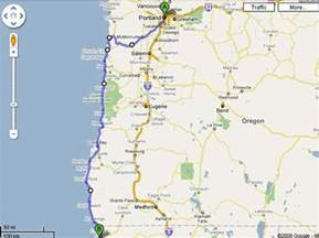 road map of oregon and california maps of hwy 101