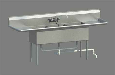 3 comp sink drain 3 compartment sink