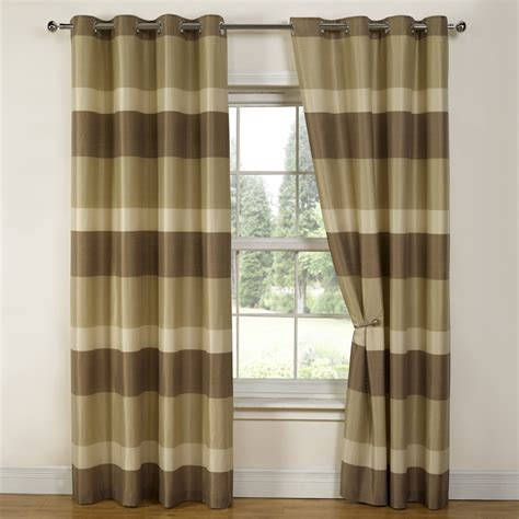 brown patterned eyelet curtains stripe jacquard eyelet ring top readymade fully lined