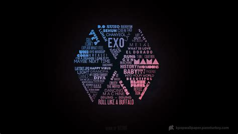 Exo Wallpaper For Ipad | exo logo wallpaper full hd kpop wallpaper kpop phone